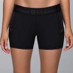 Lululemon Black What The Sport Shorts  size 2